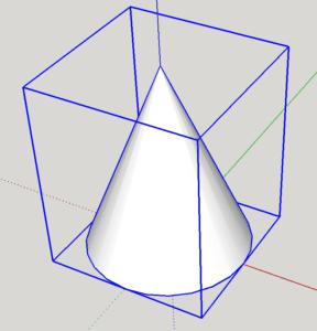 sketchup comment faire un cone