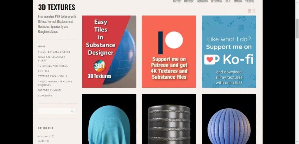 3D Textures: téléchargez des textures gratuites