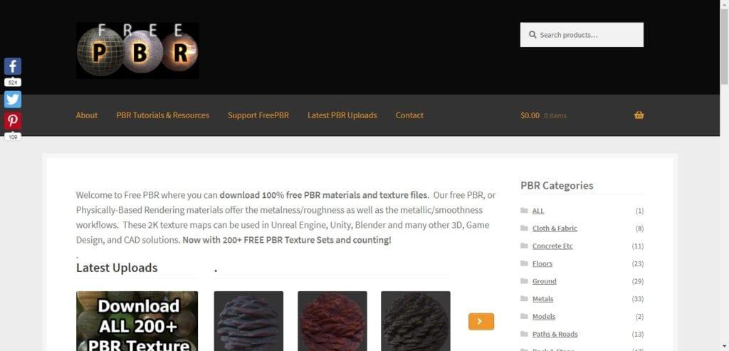 Free PBR: téléchargez des textures gratuites